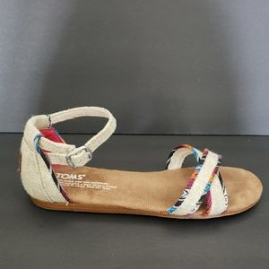 Shoes - TOMS Sandals 4 Youth Fits Womens 5.5 Multi Color